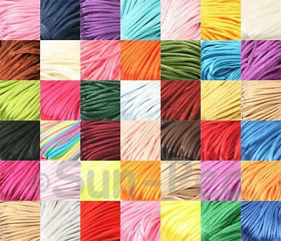 2.5mm soft & silky Satin Rattail rope Jewelry DIY Knotting Macrame Crafts 5-20m