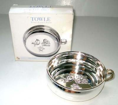 """TOWLE NURSERY RHYME COLLECTION SILVERPLATED PORRINGER 4 3/4"""" diameter x 1 3/4""""H"""