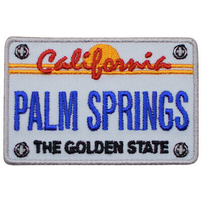 Palm Springs California Patch - CA License Plate, The Golden State (Iron on)