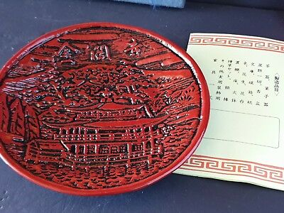 Old Japanese Red Lacquered Dish …beautiful collection item