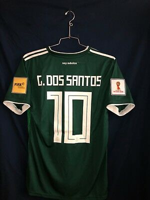 72d50c09a NWT Giovani dos Santos  10 Mexico Green World Cup Jersey Stitched Men