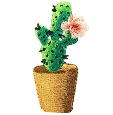 "Cactus Applique Patch - Pink Flower 1-7/8"" (Iron on)"