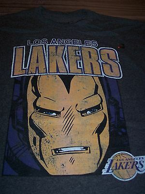 LOS ANGELES LAKERS NBA IRON MAN MARVEL COMICS T-Shirt 4XL XXXXL NEW Avengers
