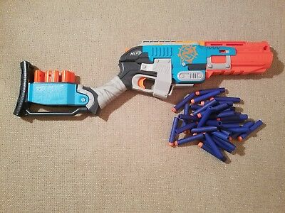 NERF Zombie Strike Sledgefire Foam Dart Blaster Includes all parts and 30+ Darts
