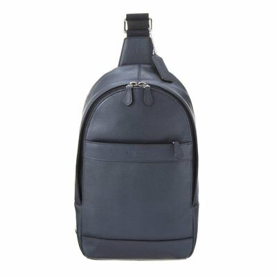 6cc7dc385afb NWT Coach Men F54770 Charles Messenger Sling Pack Bag in Smooth Leather  Midnight