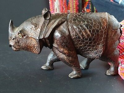 Old Javanese Carved Wooden Rhinoceros  …beautiful collection piece