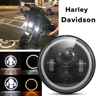7 Inch LED Headlight Lamp Projector Daymaker Motorcycle For Harley Davidson IP67