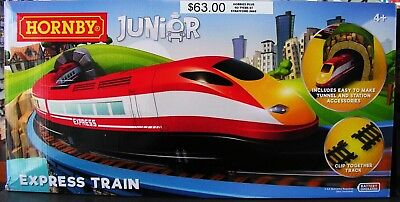 Hornby - Junior Express Train Set NEW with tunnel, station and working headlight