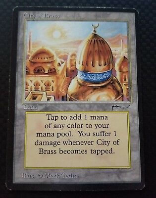 1x City of Brass - LP/NM Arabian Nights MTG