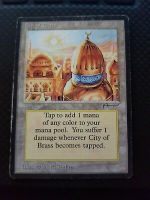 1x City of Brass - MP Arabian Nights MTG