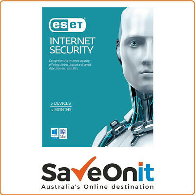 Eset Internet Security 5 Devices 1 year License key 2020