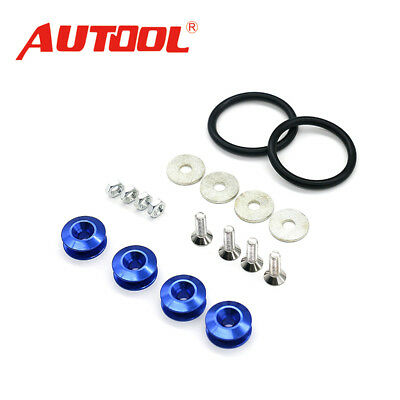 New JDM Quick Release Fasteners For Car Bumpers Trunk Fender Hatch Lids Kit Blue