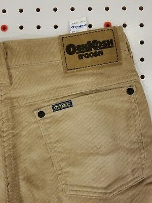 UNION MADE! Unworn! Perfect! OSHKOSH Tan CORDUROY 26x31 / 16R TALON 42 B'Gosh!