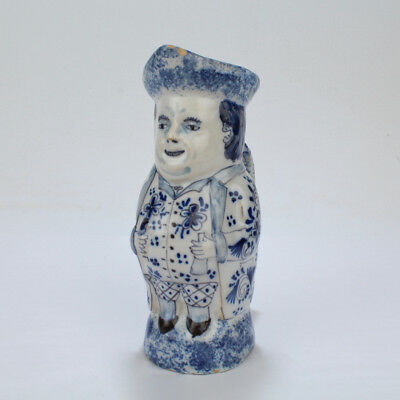 Old or Antique Miniature Delft Toby Jug or Pitcher - PT