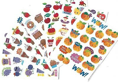 120 x scratch and sniff stickers - 6 assorted scents - Peach, cola,chocolate,etc