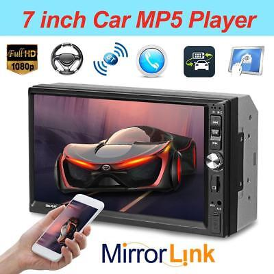"7"" Double 2DIN Touch Screen Car MP5 Player Bluetooth Stereo FM Radio USB In-Dash"