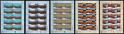 THAILAND-2018-WORLD STAMP EXHIBITION- set of 5 f/s