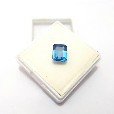 6.5 Ct Certified Natural Aquamarine Greenish Blue Color Octagon Cut Gems K-889