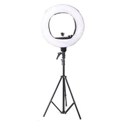 "5500K 18"" Fluorescent Dimmable Video Photo Continuous Ring Light Stand Carry Bag"