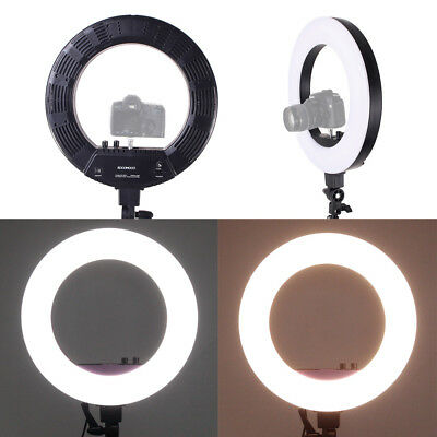 240 pcs Dimmable Black LED SMD Ring Light Stand Bag for Video Photo 55W @db%