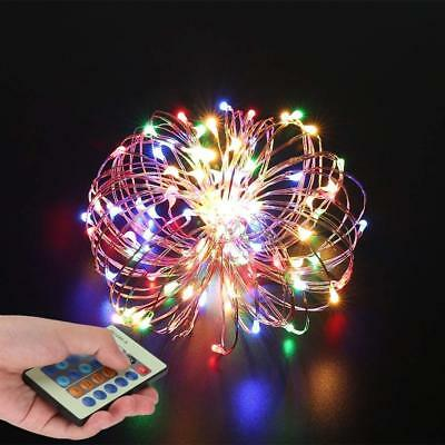 String Lights Wire Light Dimmable With Remote Control  Colorful Decorations W...