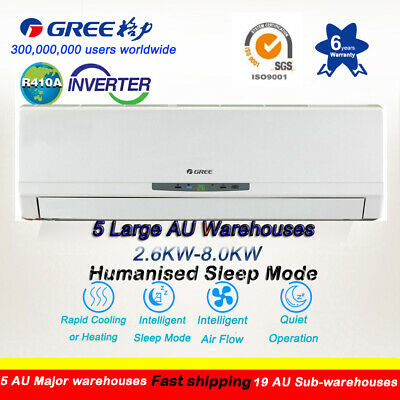 Gree 2.6-9KW Cooling 4-in-1 Inverter Split System Reverse Cycle Air Conditioner