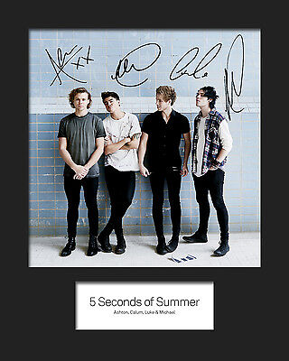 FIVE SECONDS OF SUMMER 5SOS #1 10x8 SIGNED Mounted Photo Print - FREE DELIVERY