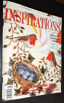 Inspirations Bird Embroidery Pattern Book Blanket Little Red Robin Finch Pretty