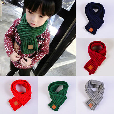 Baby Boys Girls Winter Warmer Scarf Toddler Kids Knitted Wool Scarf Neck Warmer