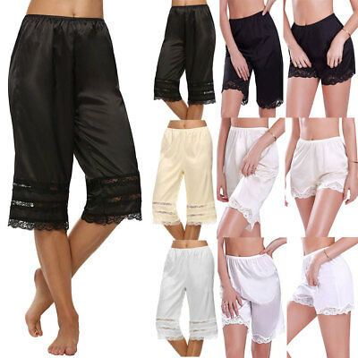 Women Lace Safety Short Pants Skirt Under Briefs Shorts Lady Slips pettipans AU