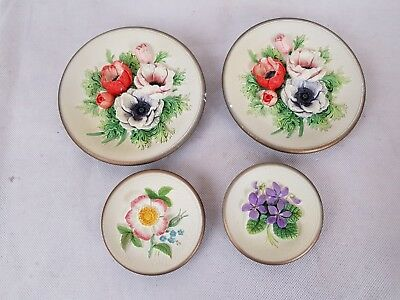 Set of 4 Bossons Imagical Models Flower Wall Plaques