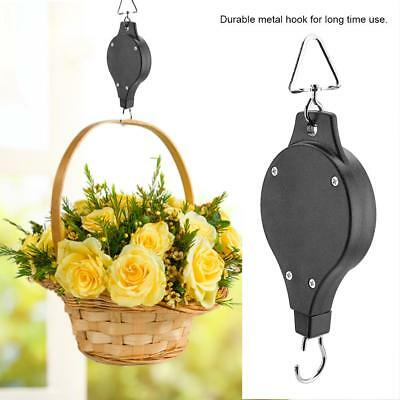 Retractable Hanging Basket Pulley Pull Down Hanger Telescopic Hook for Pot Plant