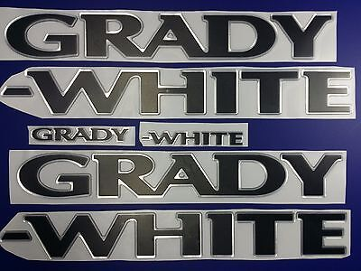 "Grady-White boat Emblem 40"" chrome black + FREE FAST delivery DHL express"