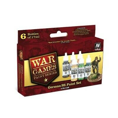 (14,87€/100ml) Vallejo Farben Model Color Wargames German SS Paint Set Airbrush