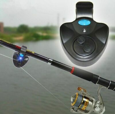 Electronic LED Light Catch Fish Bite Sound Alarm Bell Clip On Sea Fishing Rod
