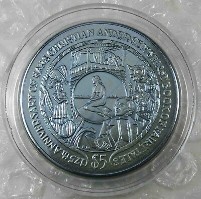 British Virgin Islands $5 Dollars 2010 Hans Christian Andersen Titanium [5069
