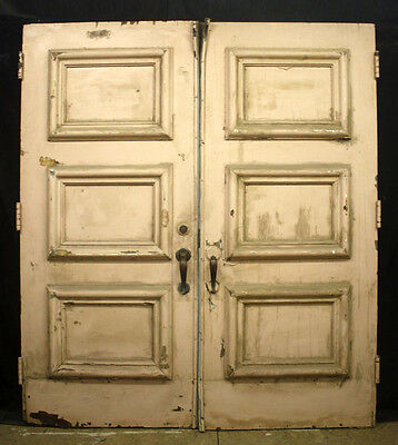 """2 Pair avail 72""""x83""""x2"""" Antique Vintage Wood Wooden Double Entry Exterior Doors"""