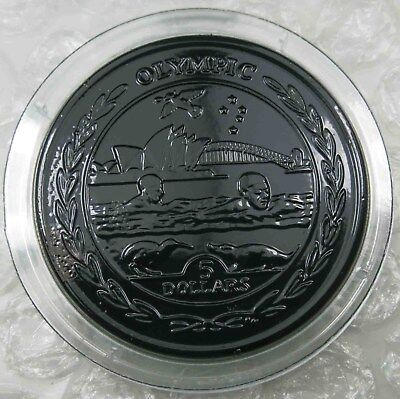 British Virgin Islands $5 Dollars 2009 Olympic Titanium [5071