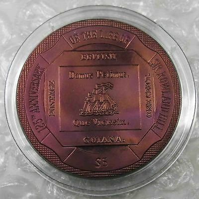 British Virgin Islands $5 Dollars 2004 Sir Rowland Hill Titanium [5072