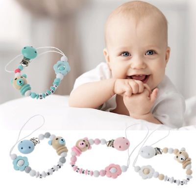 Baby Pacifier Chain Colourful Cute Panda Beads Dummy Clip Baby Soother Holder
