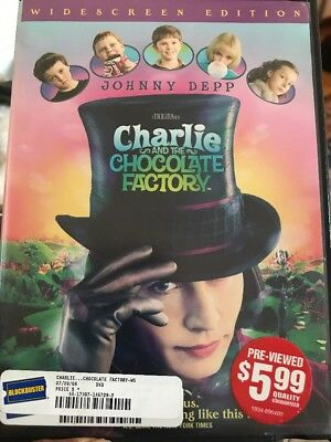 Charlie and the Chocolate Factory (2005 DVD) Very Good, - Fast Free S&H