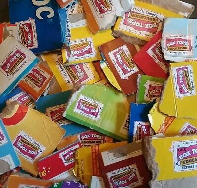 100 (UNTRIMMED) Box Tops For Education