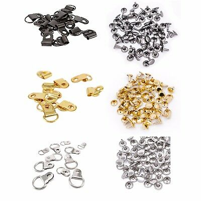 10mm D Rings with 6mm Double Cap Rivets Hanging Picture Frame Photo Canvas Hook