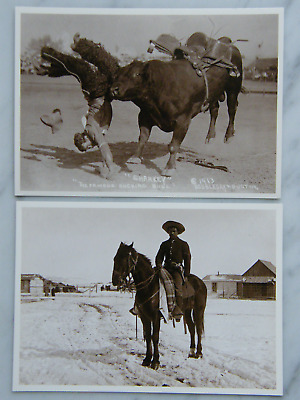 Azusa Postcards  Sharkey the famous Bucking Bull / Buffalo Soldier