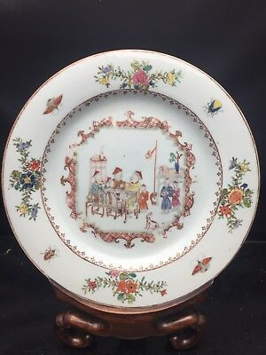 Antique Chinese Canton Porcelain Export Plate 18th Century