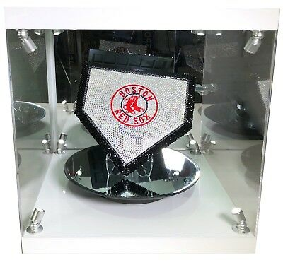 NEW MLB Mini Home Plate Made with Swarovski® Crystals + Case - ANY TEAM! OBO