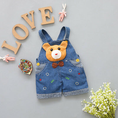Toddler Boys Jeans Overalls Kids Baby Denim Pants Girls Dungarees Summer Clothes
