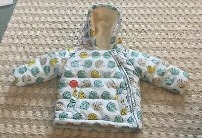 M&S Baby Girl / Boy Winter Coat - Hedgehog Design - Size 3-6 Months