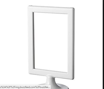 IKEA TOLSBY Frame for 2  Sided Pictures Display Memo White NEW