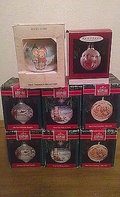 Hallmark Christmas Ornaments Beatrix Potter Betsey Clark etc Lot of 8